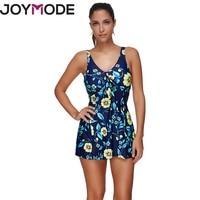 JOYMODE Flowers Stitching Mosaic Swimsuit Two Pieces Swimwear Conservative Beach Swimsuit For Summer Women Floral Bikini