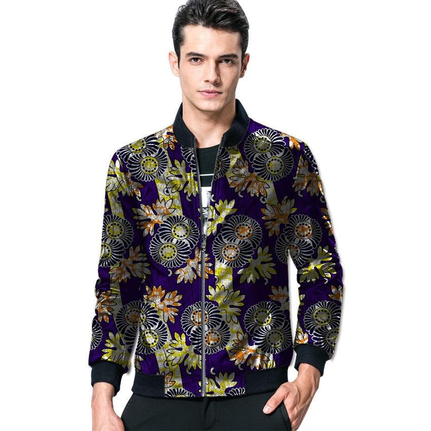 Africain 6 Hommes Afrique Mode Style 3 2 Vêtements Dashiki 4 5 Motif Personnalisé Manteaux Homme Baseball Veste 1 Imprimer Pour wRH8AHq