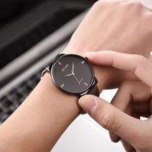 Concise Diamond Simple Unisex Fashion Watches Luxury Quartz Belt Mesh Strap Rose Gold Minimalist Wristwatch Relogio Feminin