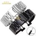 Inteligente relógios banda sólido aço inoxidável pulseira assista bracelete pulseira pulseira 24mm para SUUNTO NÚCLEO Duplo fecho seguro