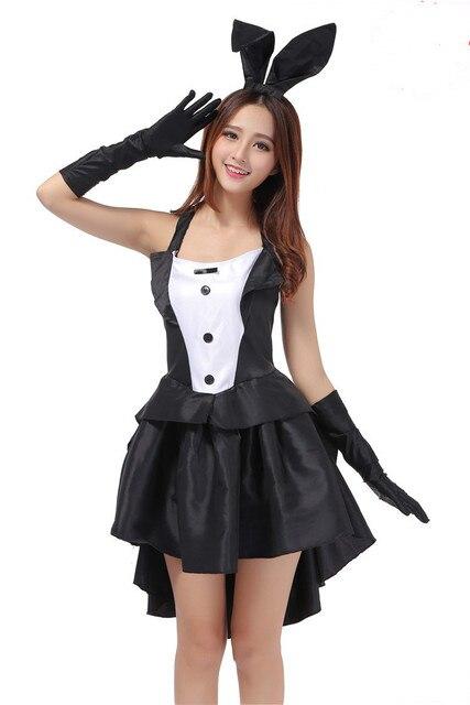 Черный смокинг для девочек Эра маг кролик форма костюм женский джаз танец этап Платья для женщин Костюмы для бальных танцев профессиональные танцевальные костюмы