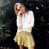 여성 후드 스웨터 레이스 목 흰색 스웨터 여성의 긴 소매 캐주얼 운동복 점퍼 스웨