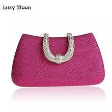 Women's Crystal U Diamond Clutch Glitter Bag