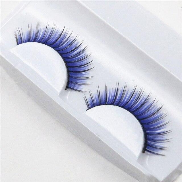 1 pairs blue exaggerated fashion nightclub makeup fake eyelashes false eyelashes