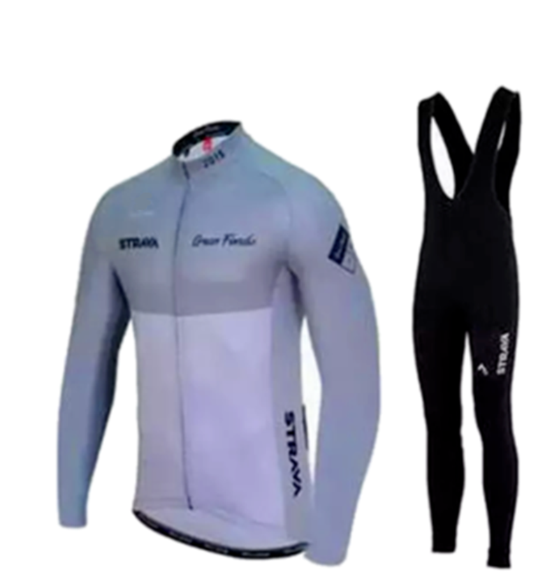 Strava Cycling Jerseys Ropa Maillot Ciclismo Long Sleeve Autumn And Winter Cycling Jersey Clothing Breathabl Bib Pants Set