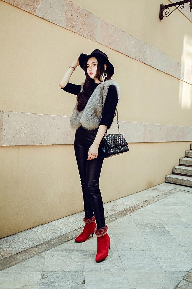 Femmes Daim shoes Bottes mollet Noir En Mi Dames Color Cuissardes D'hiver Black Neige Mode Chaussures De A pzrp6x