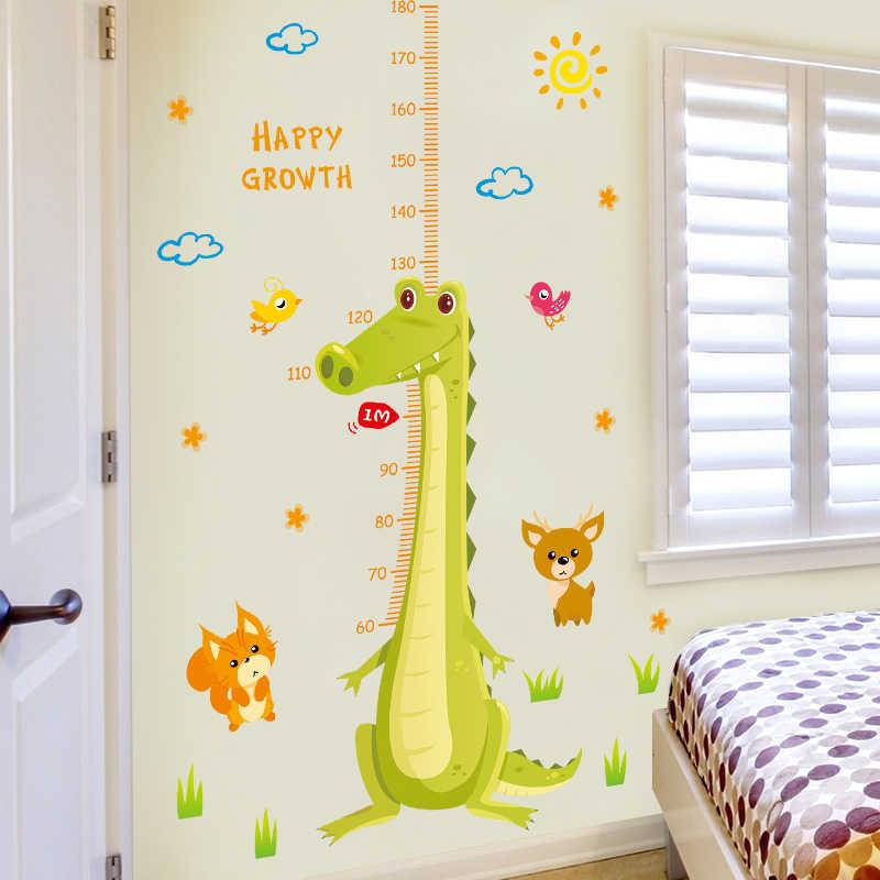 الكرتون تمساح ارتفاع ملصقات جدار للأطفال غرف نوم غرفة المعيشة المطبخ ديكور المنزل صور مطبوعة للحوائط جدارية المشارك