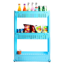 3 layer plastic kitchen storage rack can move between the car compartment plastic storage holders