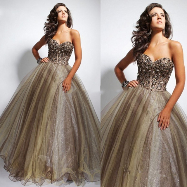Don's Bridal Coral Quinceanera Dress Long Beaded Sleeveless Sweetheart Neck Ball Gown Prom Debutante Dresses 2016