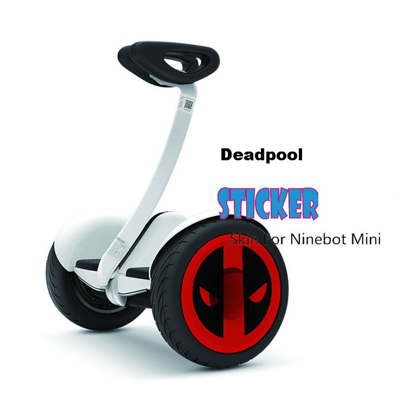 Prix pour Xiaomi Mini Scooter Peau Décoratif Autocollant Moyeu De Roue Emplâtre Imperméable Roue Couverture Autocollant pour Xiaomi Mini Électrique Scooter