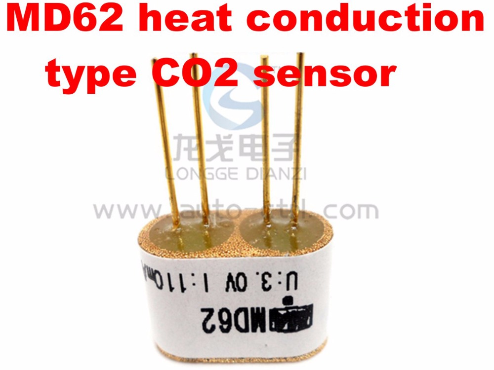 High quality 0-100%VOL CO2 sensor heat conduction genuine carbon dioxide sensor CO2 sensor element MD62 digital indoor air quality carbon dioxide meter temperature rh humidity twa stel display 99 points made in taiwan co2 monitor
