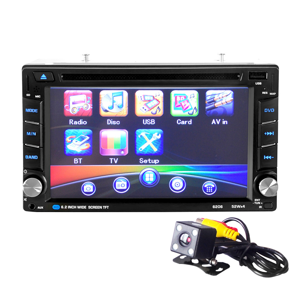 6.5 Double 2DIN Touch Car Stereo CD DVD Player Bluetooth