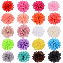 Yundfly 10PCS Fashion Big Mesh Eyelet Fabric Flower Artifical for DIY Baby Girls Hair Accessories