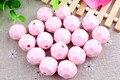 Menta de Color Rosa Nuevo 20 MM Moda 105 unids Mucho Granos de Acrílico Talló Hexagon, granos de Acrílico Sólidos para Collar fornido de La Joyería