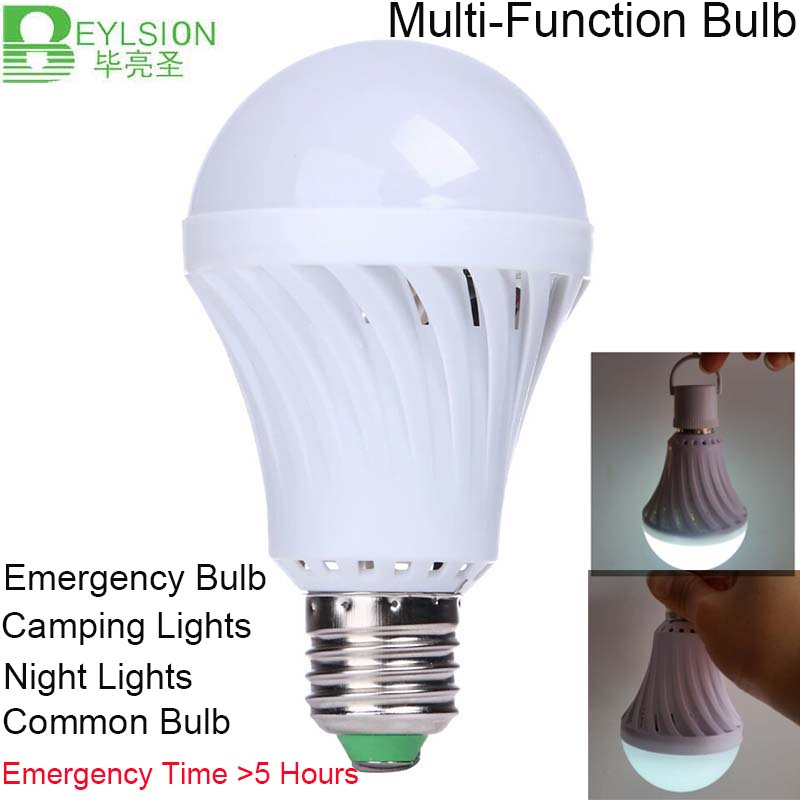 Us 8 19 45 Off 5w 9w 12w Led Emergency Light Bulb Automatic Charging Rechargeable Battery E27 Lamp Time 5 Hours In