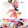 190*100 СМ женщины шелковый шарф 2017 новый стиль моды Высокого качества марка дизайн женский шарф женщины открытый необходимости шаль