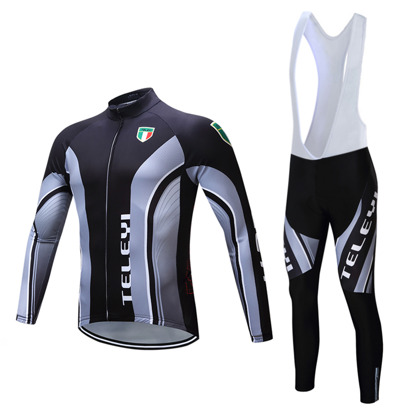Mountain Bike Clothes Winter Thermal Fleece Bicycle Jersey Sets 2017 Cycling Clothing Kit Men Maillot Sports Wear Triathlon Suit black thermal fleece cycling clothing winter fleece long adequate quality cycling jersey bicycle clothing cc5081