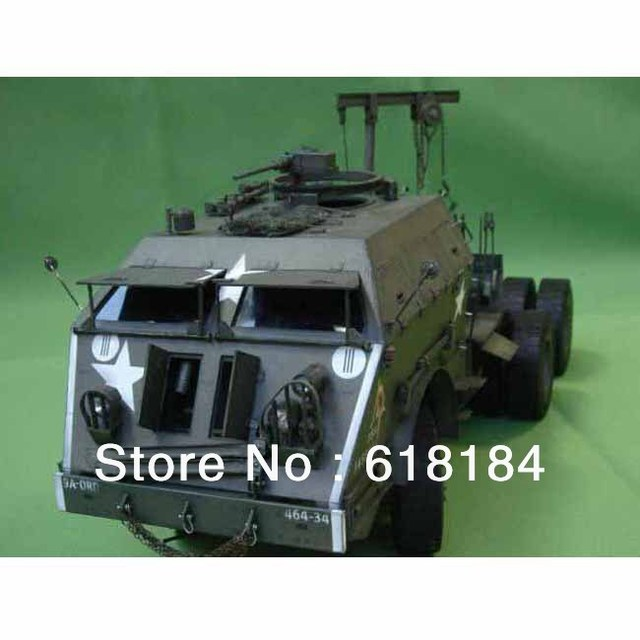 Free Shipment A3 Paper Model Truck 70CM Long 1:25 US M25