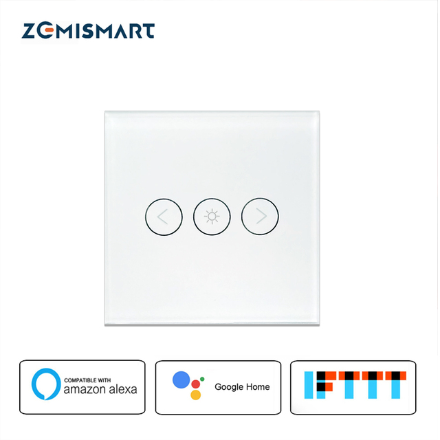 Zemismart WiFi Dimmer Switch 220V 110V Dimming Panel Switch Connected To Alexa Google Home Voice Control Dimmer