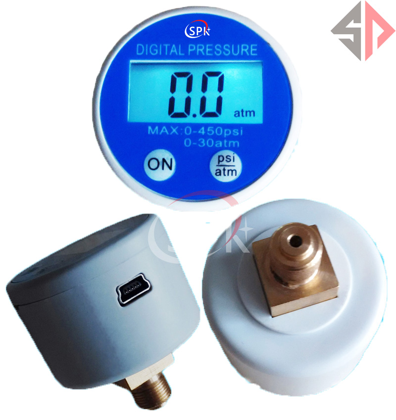 Manomètre numérique USB RS232 alimenté par batterie SP 0-450psi