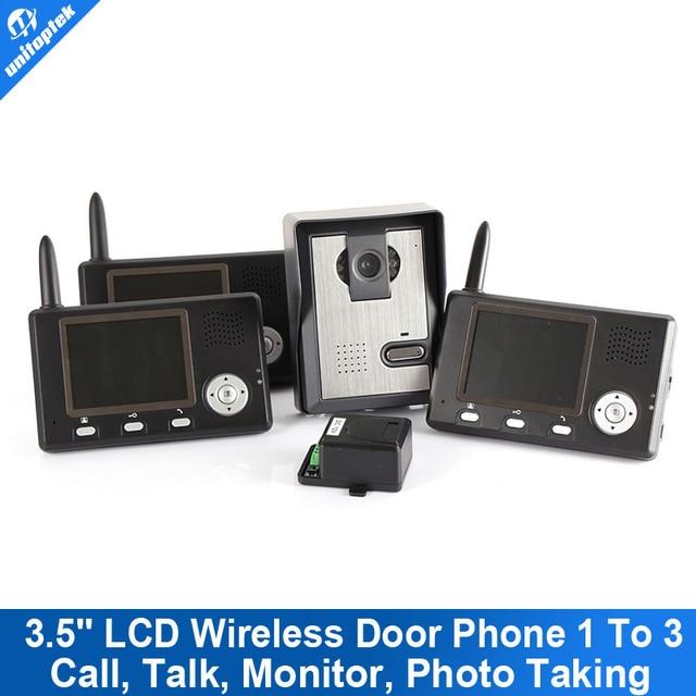 """3.5"""" Doorbell Wireless Outdoor Intercome Video Door Phone With Camera Recorder"""