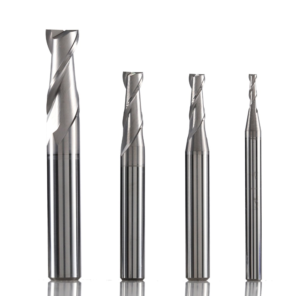 NM-2E Tungsten Steel 2 Flute Square Coated End Mill Cnc Milling Cutter Cutting Tools For Copper And Aluminum Alloy Machining