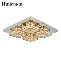 Luces de Techo de Lujo Moderno Huiteman Clear Crystal Accesorios de La Lámpara de Techo Lustre Inicio Salón Dormitorio Iluminación Interior