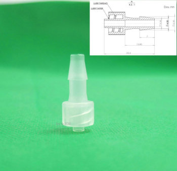 free shipping 100pcs/lot 3/16inch-Barb Male Luer Tapered Fitting (polyprop) ,Luer Lock  Tapered Connector