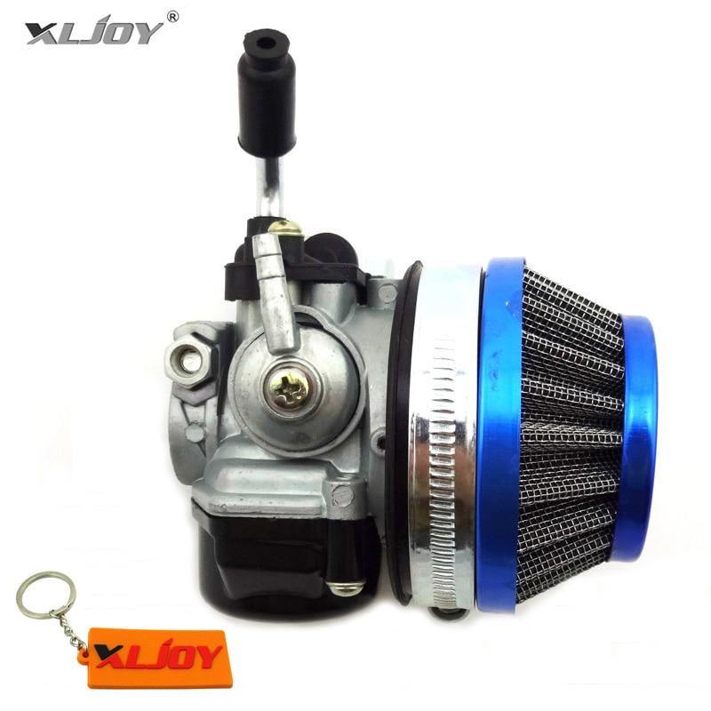 Aftermarket Carb Dellorto Style SHA 14mm Carburetor Air Filter Blue 58mm For Tomos A35 Golden Bullet Targa LX TT Sprint Colibri