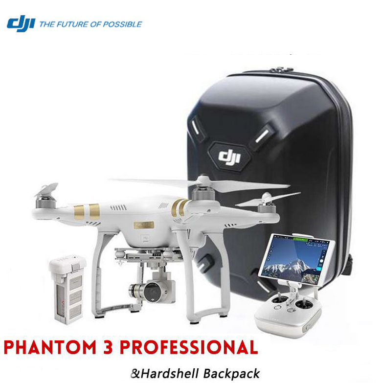 Dji phantom 3 Professional rtf with Original DJI Hardshell Backpack 4K HD camera & 3D Gimble,live HD view