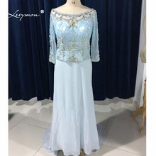 Leeymon Long Sleeves Luxury Chiffon Dress