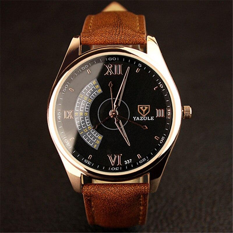 Watches Men Luxury Brand YAZOLE Fashion Blue Glass Un #