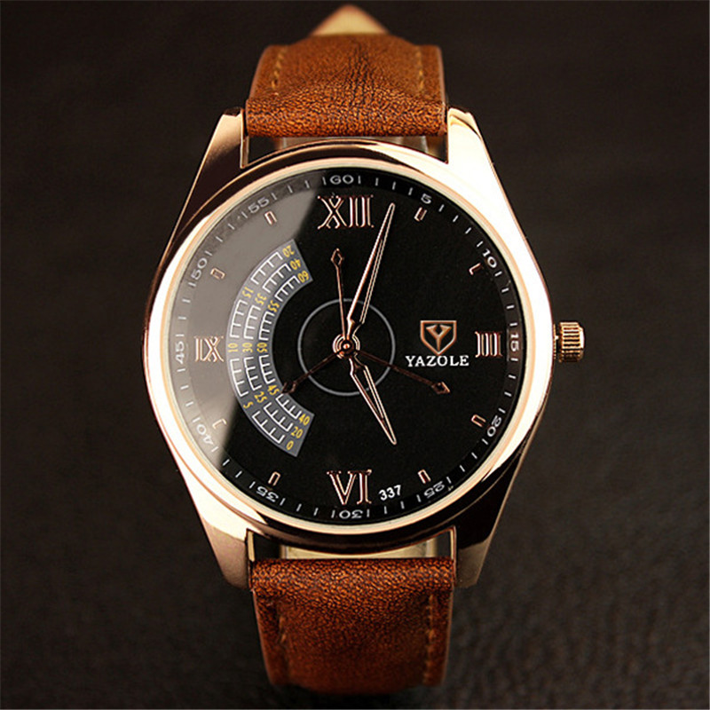 Watches Men Luxury Brand YAZOLE Fashion Blue Glass Unisex Quartz Watch Women Business Casual Wrist Watch Relogio Masculino C37 relogio masculino unisex fashion watch men women lovers couple watches pu leather quartz wrist watch levert dropship d1221