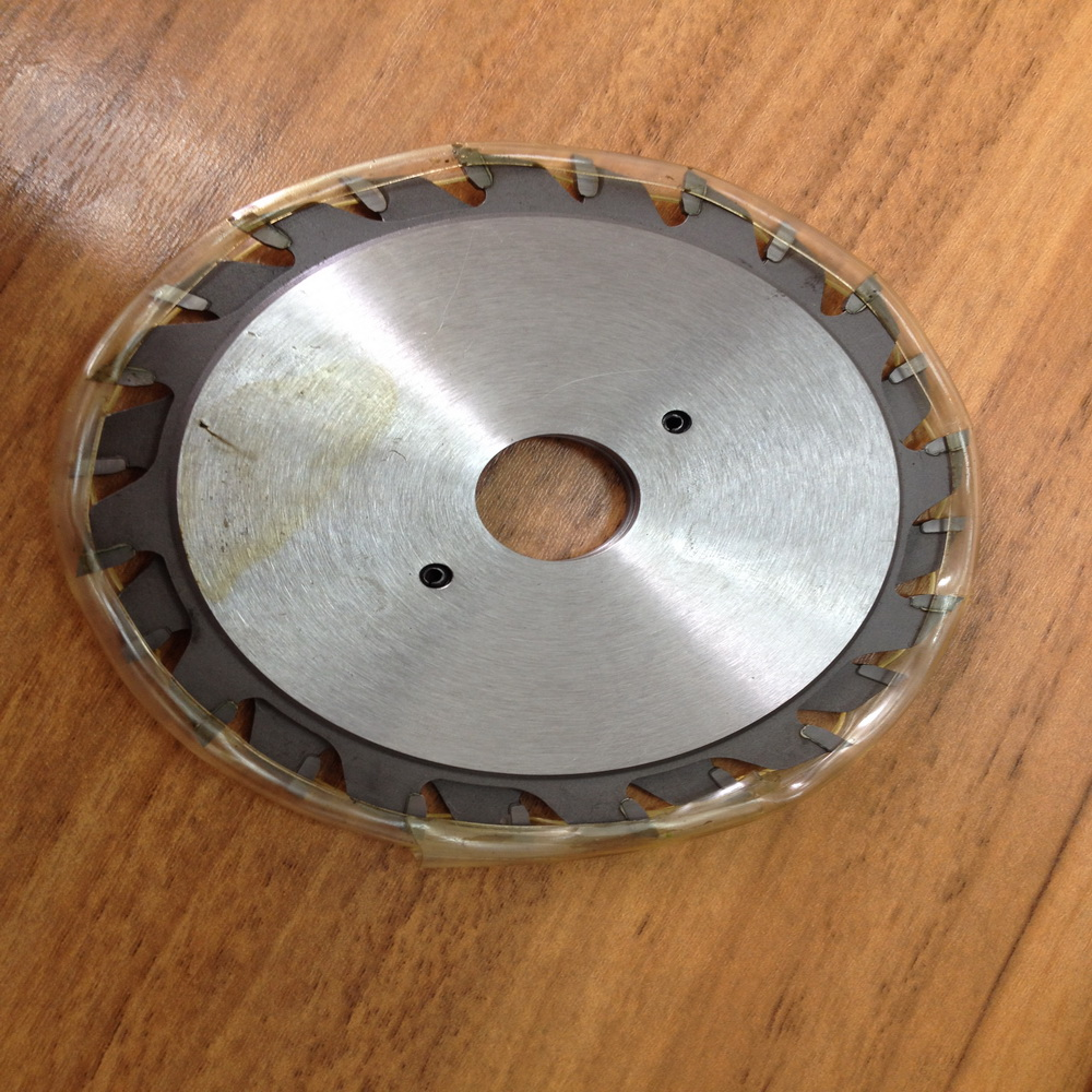 Free shipping 1 set double blades 120*2.8 3.6*22/20*12+12T TCT adjustable scoring blade for Scoring Aluminum plate/alunimun
