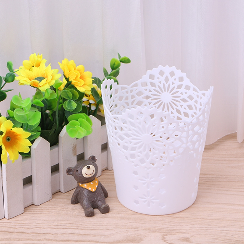 Lace Hollow Pattern Pen Holder Brush Storage Pen Pencil Pot Holder Container Desk Organizer Gift Multifunction Storage Rack
