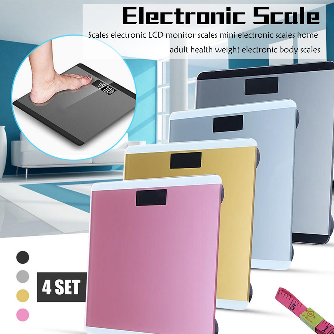 Balances électroniques pour le corps balances électroniques LCD balances pour moniteur mini balances électroniques pour la santé des adultes