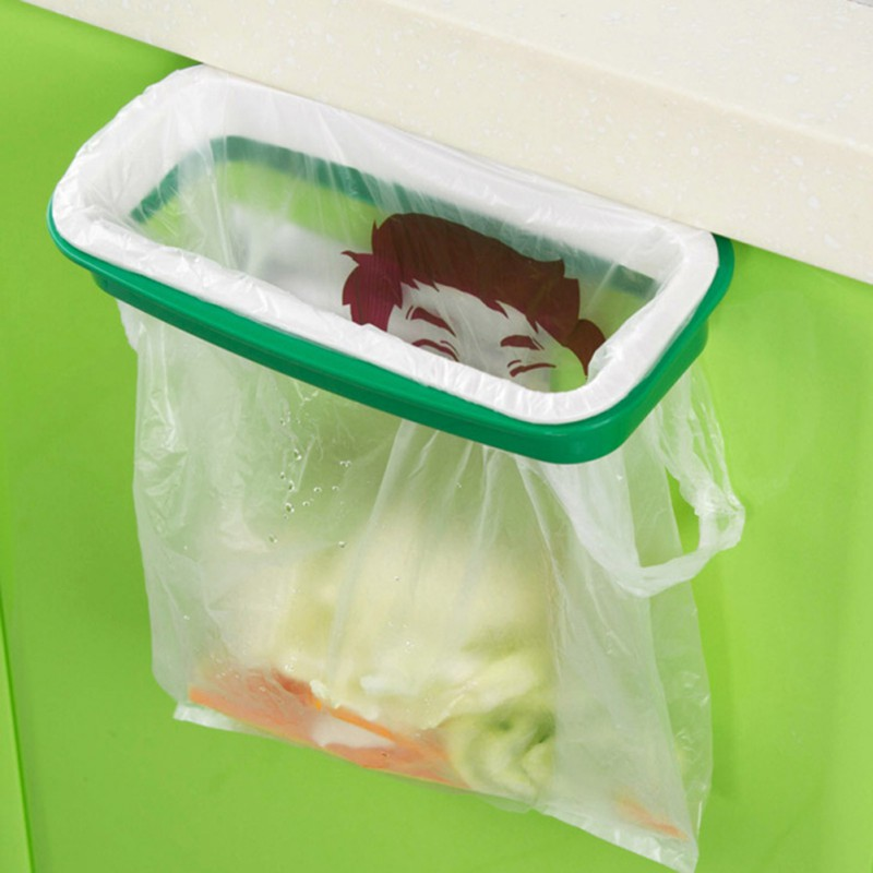 Kitchen Trash Storage Hanger Garbage Bag Holder Plastic Bracket Stand Rack ...