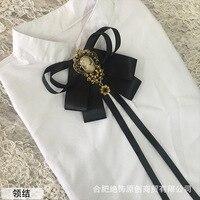עניבת משי סט Chalaza יד רוח להימנע סרט שחור להיט עופרת חבל מלא בנות Bow עניבה לגברים mens חולצת מדים של בית ספר קשרי