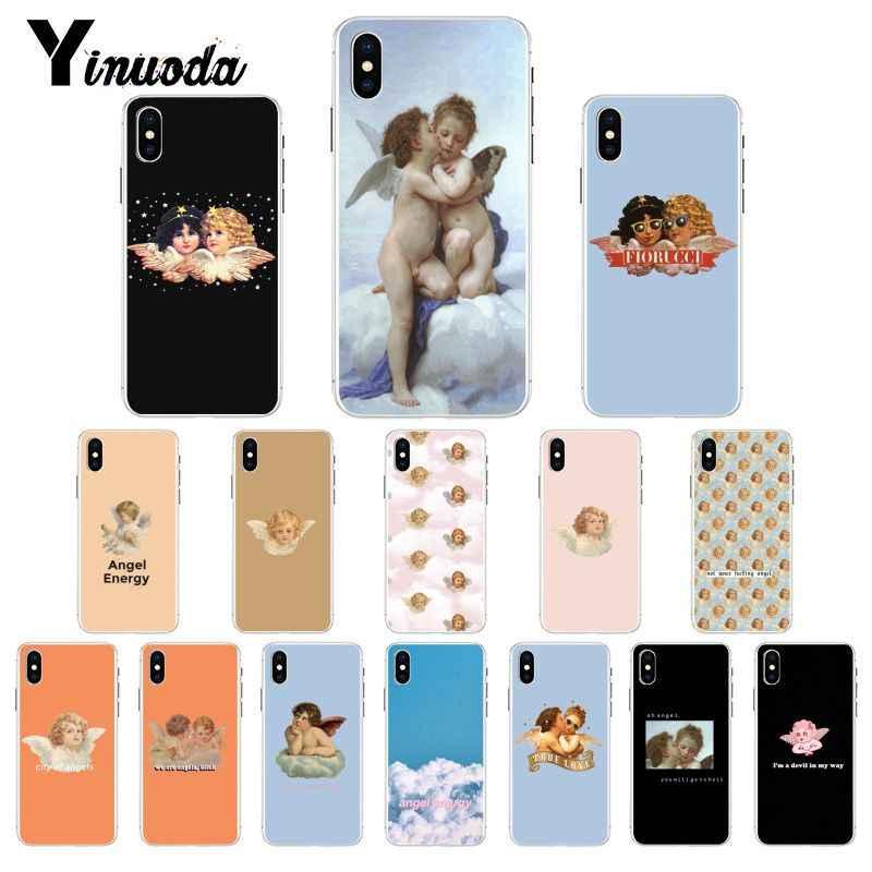Yinuoda Vintage malarstwo raju renesansu aniołów etui na telefon dla iPhone X XS MAX 6 6S 7 7plus 8 8Plus 5 5S XR 10 11 pro max