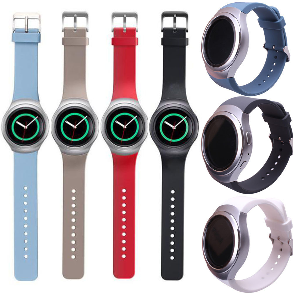 Watch Strap High Quality Fashion Design Luxury Silicone WatchBand Strap For Samsung Galaxy Gear S2 SM-R720 Correas de reloj 2018 silicone rubber watch band strap replacement smartwatch bands link bracelet for samsung galaxy gear s2 sm r720 black blue red