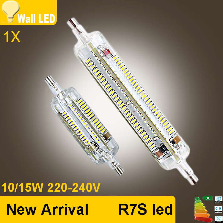 New silicone r7s led lamp 10w 15w smd3014 78mm 118mm led for Lampadina r7s led 78mm