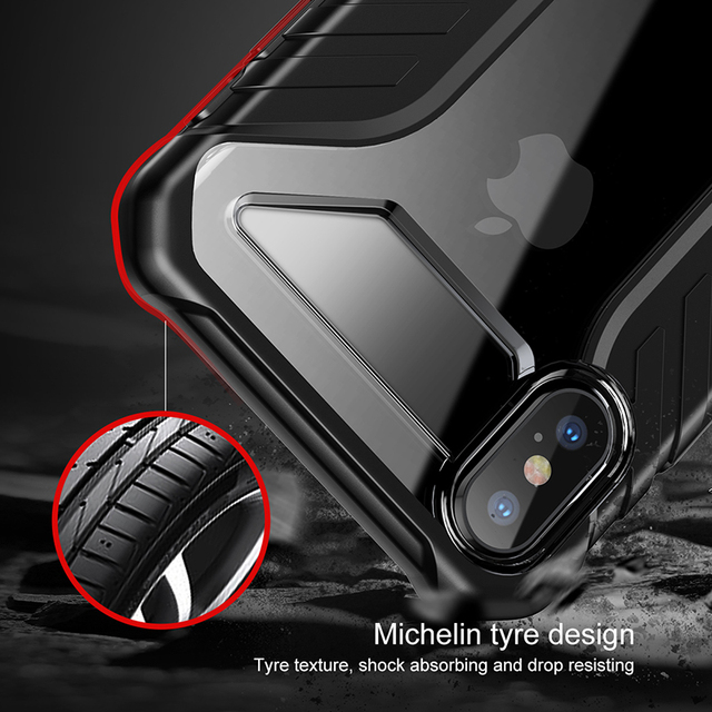 Baseus Tire Texture Rugged Armor Soft Silicone Protective Back Case Cover