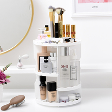 Storage box round rotating perfume lipstick frame transparent acrylic makeup box bathroom skin care products plastic storage box