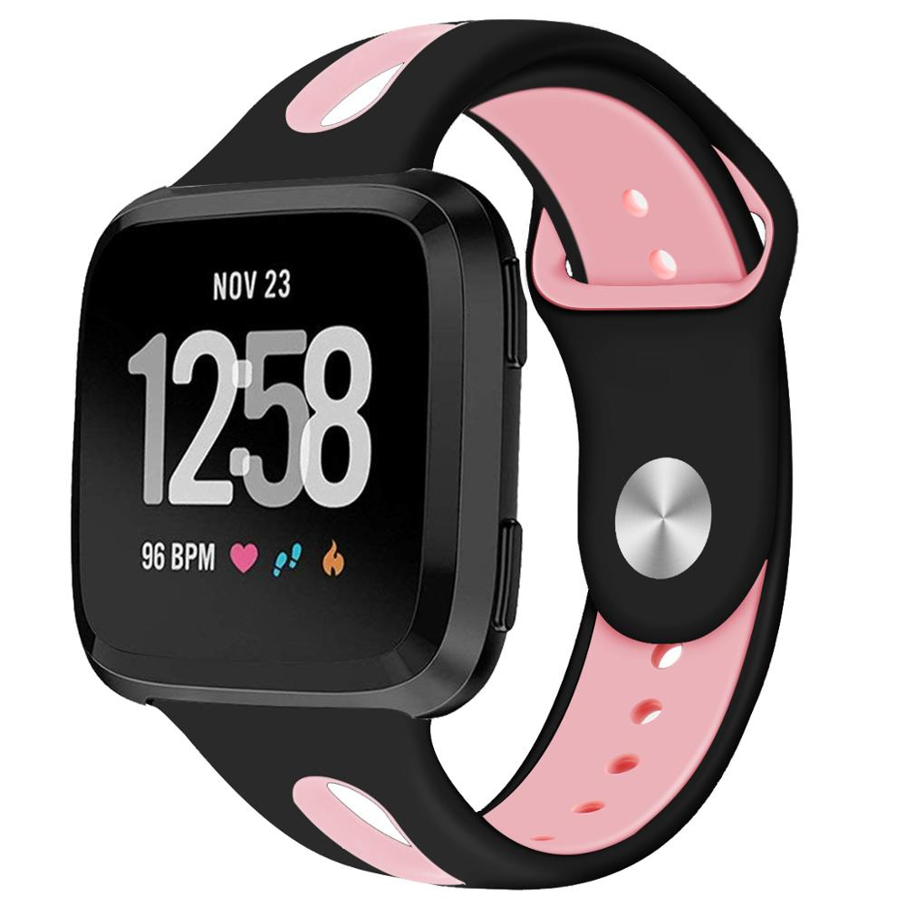 Compatible With Fitbit Versa Band Strap Silicone Breathable Replacement Sport Strap Bands For Fitbit Versa Watch 61013