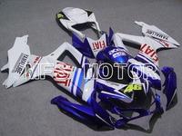 2008 2010 For Suzuki GSXR 600/750 K8 Injection ABS Fairing FIAT Blue White Motorcycle Part