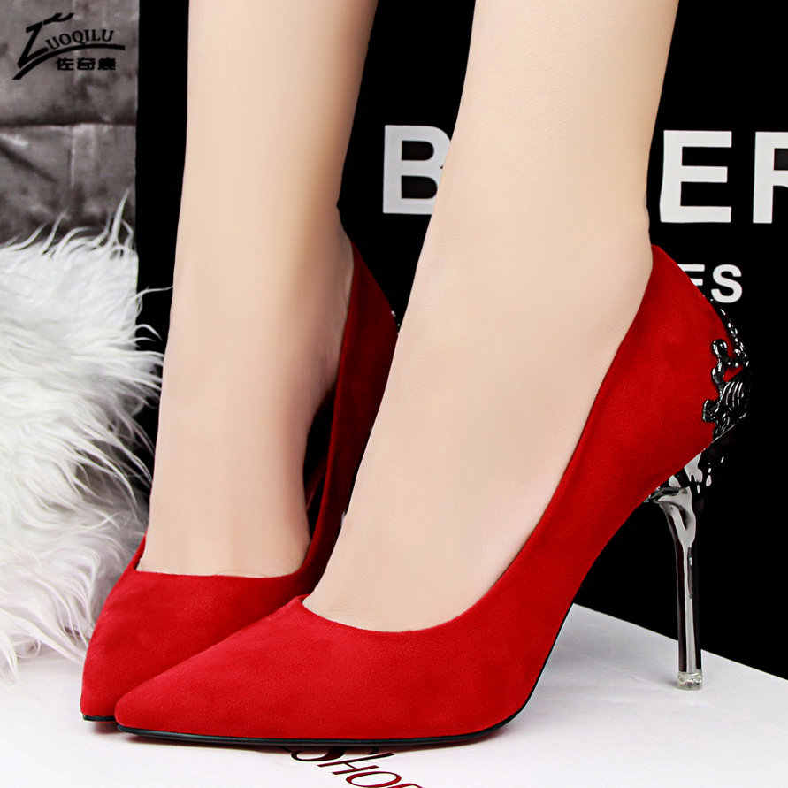 17fa952794e Sexy High Heels Women Shoes Red Gold Silver Wedding Shoes Bride High Heels  Ladies Shoes Women
