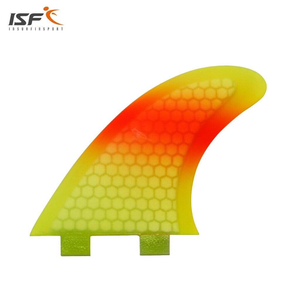 ISF hot sale fiberglass honeycomb fcs surf fins quilhas de prancha fcs thruster surfboard fins G3/G5/G7 tri set (3 piece)ISF hot sale fiberglass honeycomb fcs surf fins quilhas de prancha fcs thruster surfboard fins G3/G5/G7 tri set (3 piece)