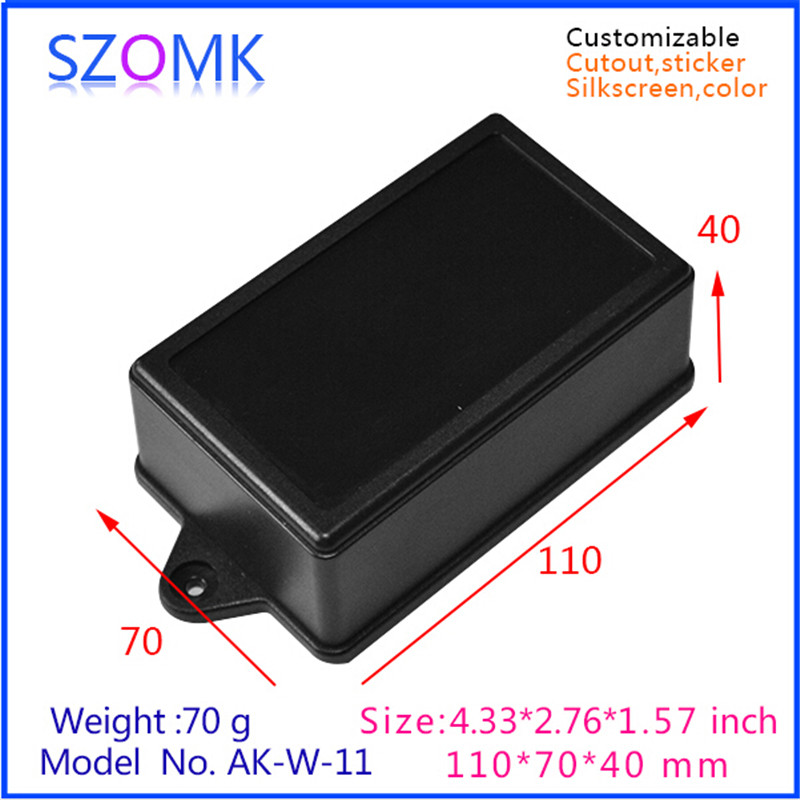 diy plastic enclosures for electronics (10 pcs) 110*70*40mm  wall mounting junction box enclosure outlet box electrical cabinet