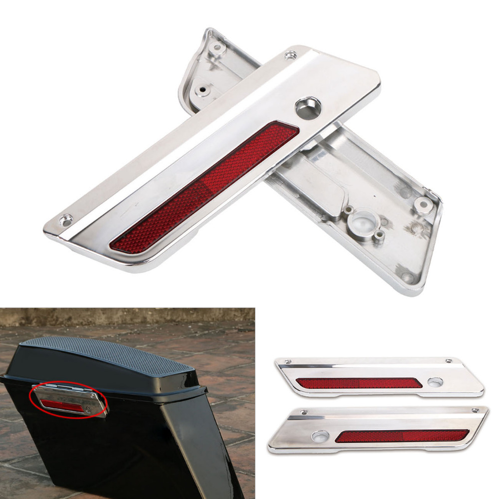 Motorcycle Saddle Bag Hinge Latch Covers Case For Harley Touring Street Glide FLHT 1993 - 2013 ABS Plastic Bagger Bags Cover C/5