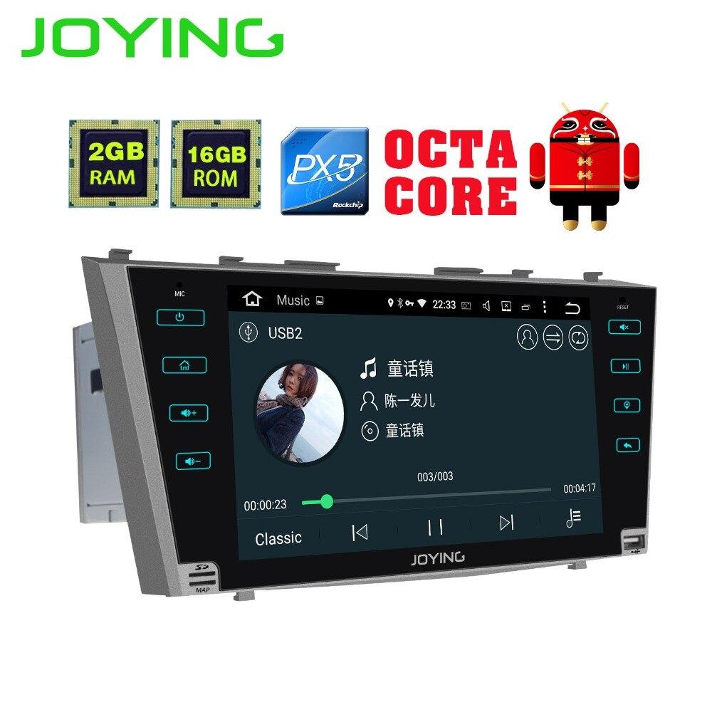 9 Joying 2 GB + 16 GB 2 Din PX5 Android De Voiture Radio Audio Stéréo Magnétophone Pour Toyota Camry GPS Navigation Soutien sortie Vidéo